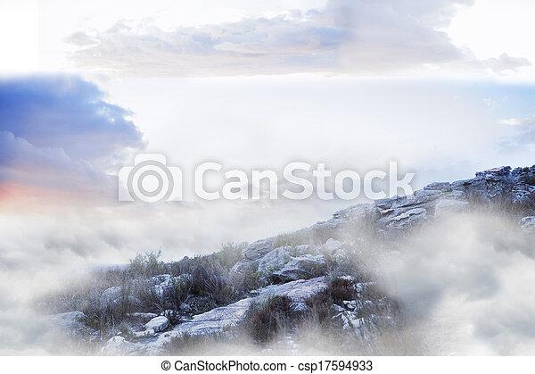 Misty landscape - csp17594933