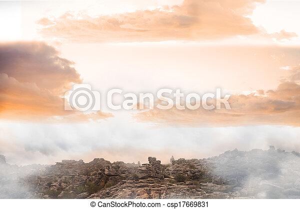 Misty landscape - csp17669831