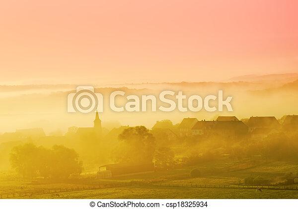 misty landscape - csp18325934
