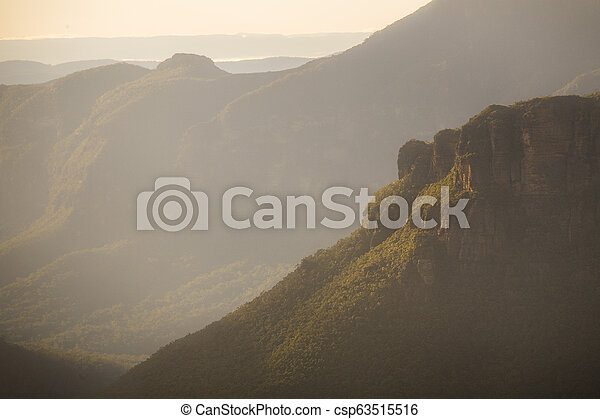 Misty light Blue Mountains Australia - csp63515516