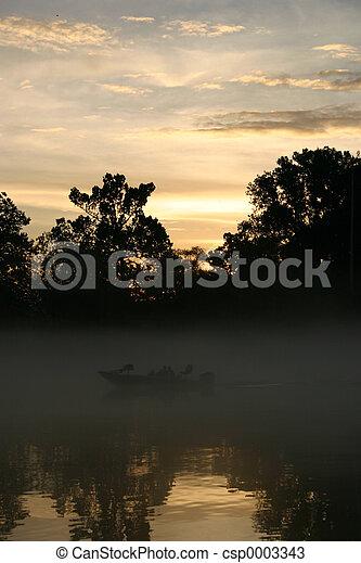 Misty sunset - csp0003343
