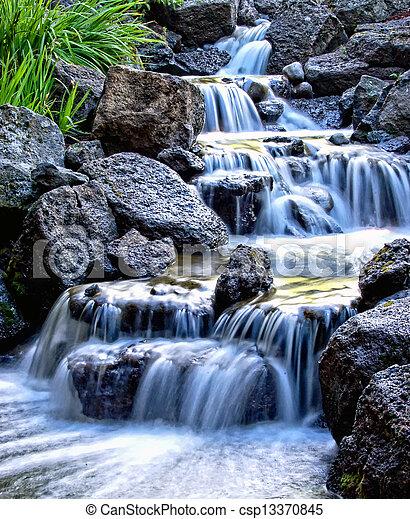 Misty waterfall - csp13370845