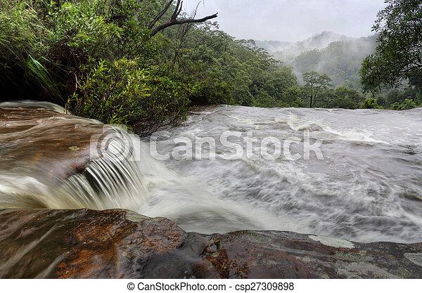 Misty Waterfall - csp27309898