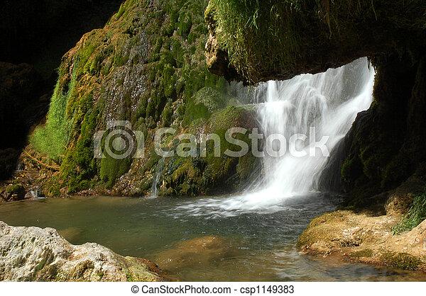 Misty Waterfall - csp1149383