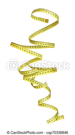 misurazione, rotolato, nastro, fondo, bianco - csp70336846