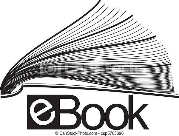 Ebook mitad icono - csp5703696