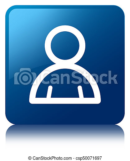 mitglied, blaues, taste, quadrat, ikone - csp50071697