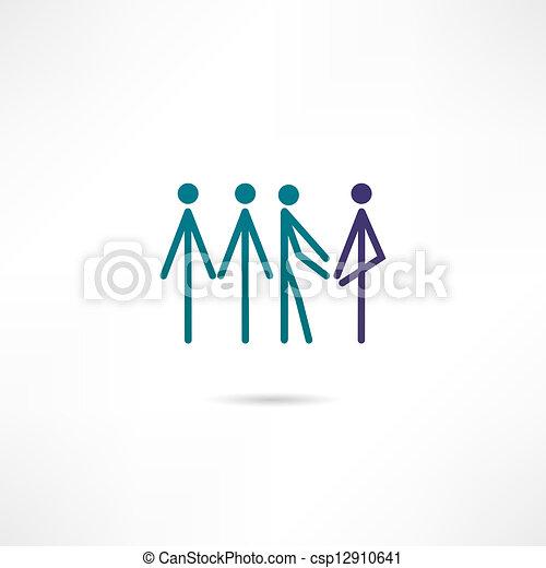 Ikone der Mitglieder - csp12910641