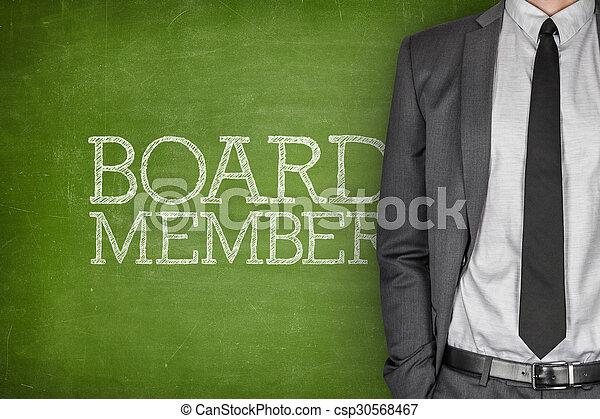 Vorstandsmitglied an der Tafel - csp30568467