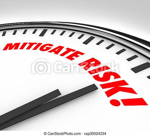 Mitigate Risk Clock Time to Reduce Danger Hazard Liability - csp30024334
