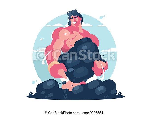 Mitologico Hercules Personagem Guy Apartamento Caractere