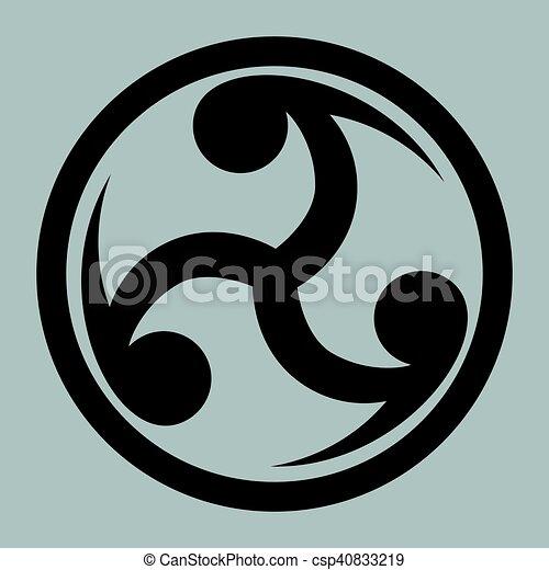 Mitsu Tomoe Japanese Triad Symbol Mitsu Tomoe Japanese Symbol