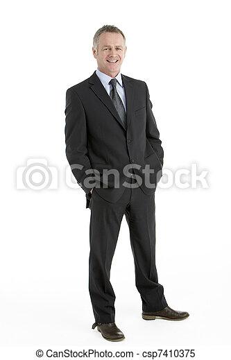 Portrait des mittleren Geschäftsmanns - csp7410375