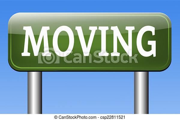 miving sign - csp22811521