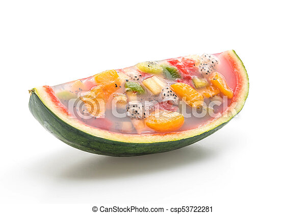 mix fruits jelly - csp53722281