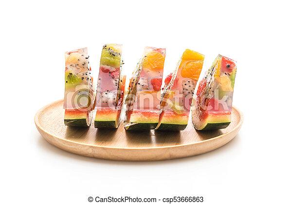 mix fruits jelly - csp53666863