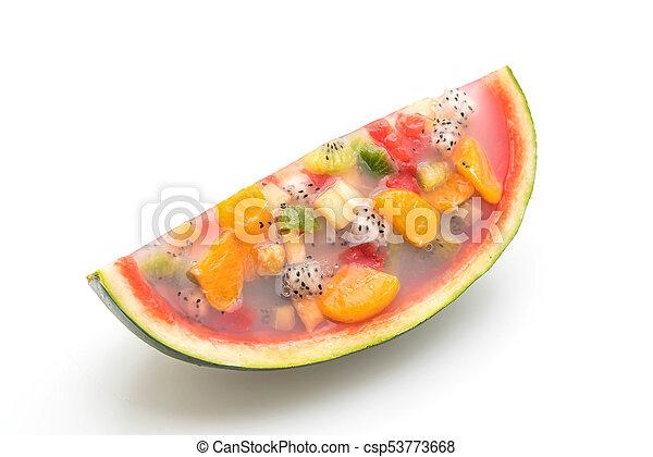 mix fruits jelly - csp53773668