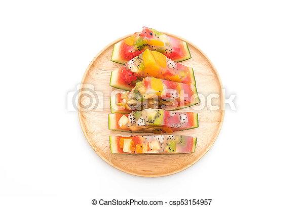 mix fruits jelly - csp53154957