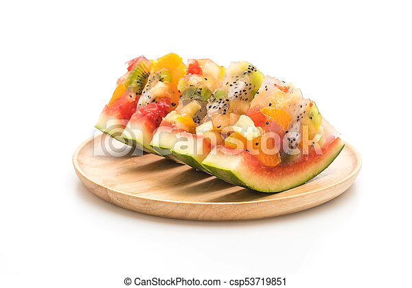 mix fruits jelly - csp53719851