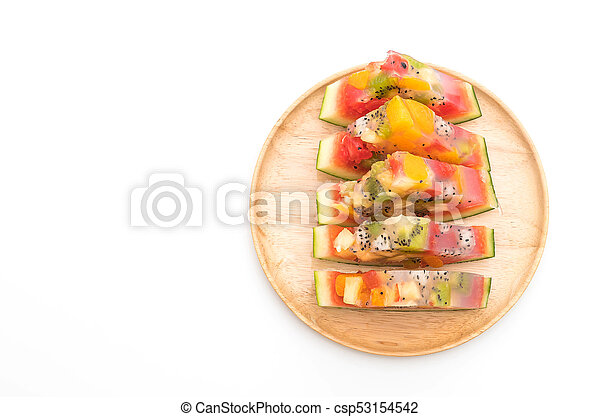 mix fruits jelly - csp53154542
