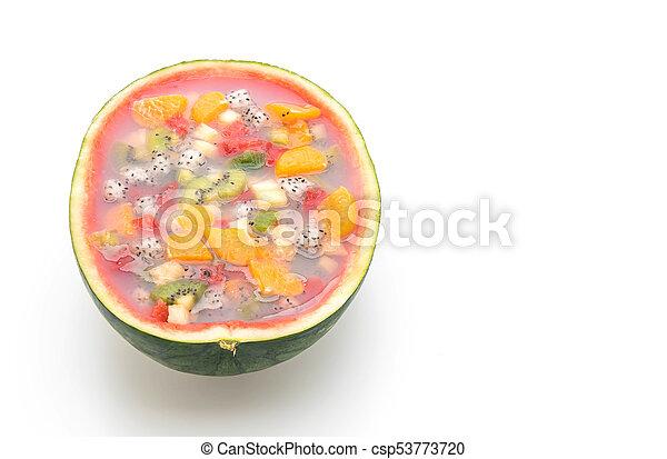 mix fruits jelly - csp53773720