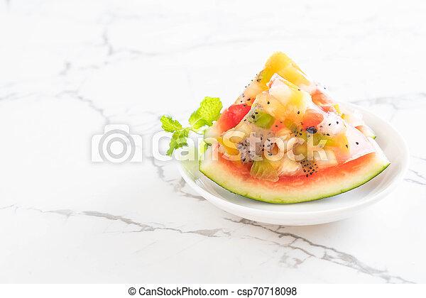 mix fruits jelly - csp70718098