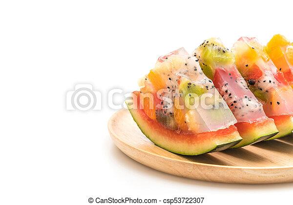 mix fruits jelly - csp53722307