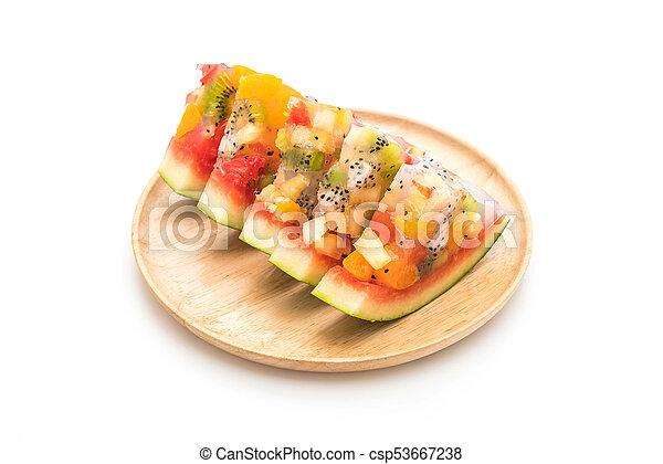 mix fruits jelly - csp53667238