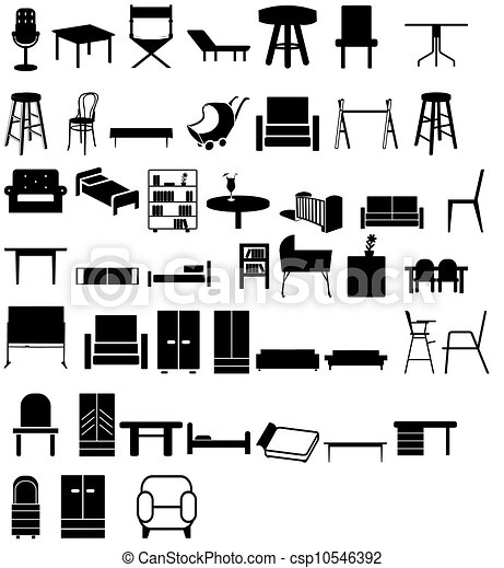 Mix Furniture Illustration Of Different Types Of Chairs 40 Home