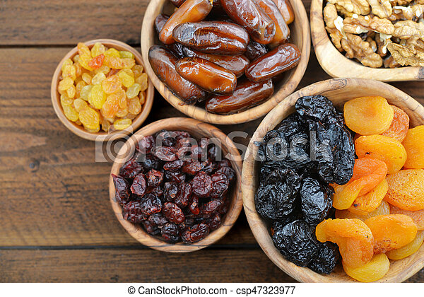 Mix of dried fruits - csp47323977