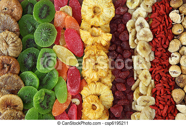 Mix of dried fruits - csp6195211