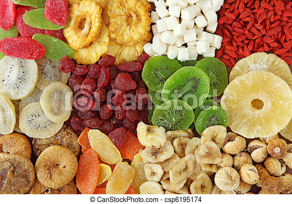 Mix of dried fruits  - csp6195174