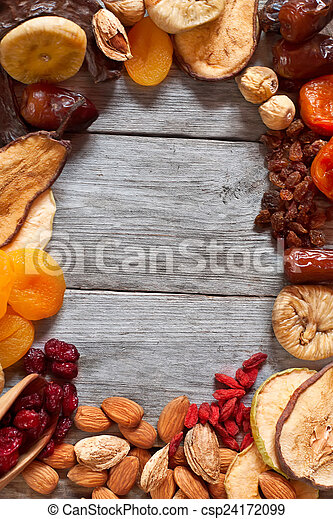 Mix of dried fruits - csp24172099