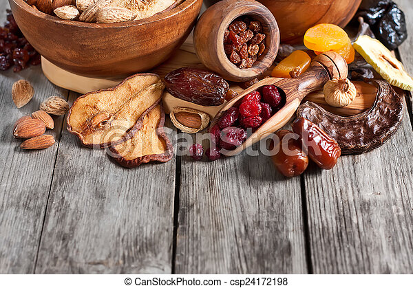 Mix of dried fruits - csp24172198