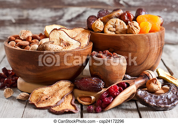Mix of dried fruits - csp24172296