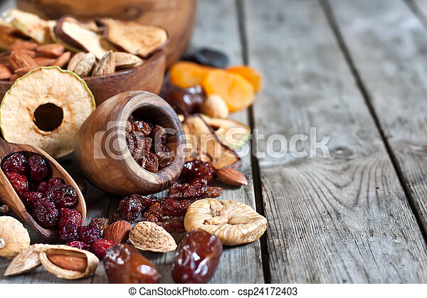 Mix of dried fruits - csp24172403
