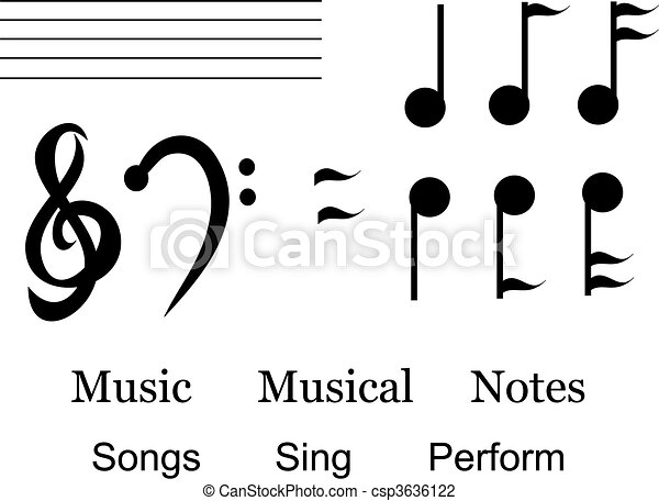 Mix Of Musical Symbols And Words Here Is A Handy Assortment Of