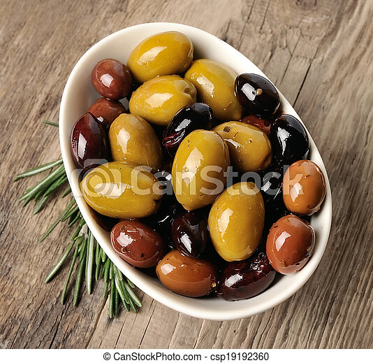 Mix of olives.  - csp19192360