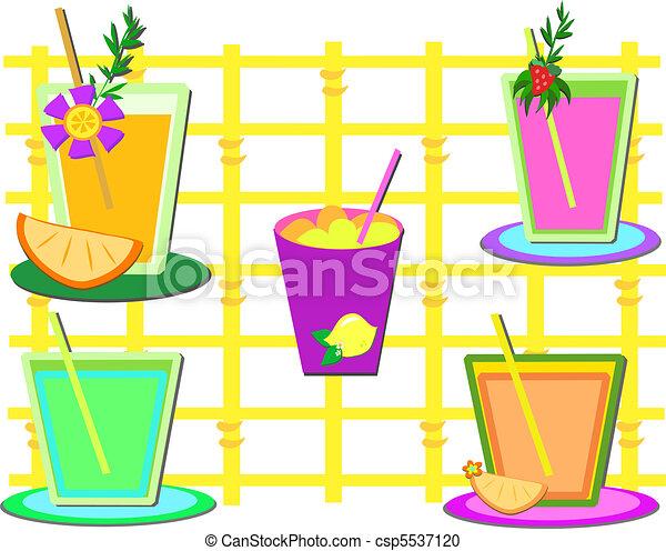 Mix of Sweet Drinks - csp5537120