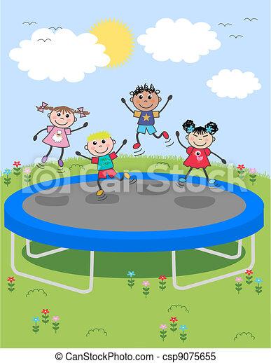 mixed ethnic children - csp9075655