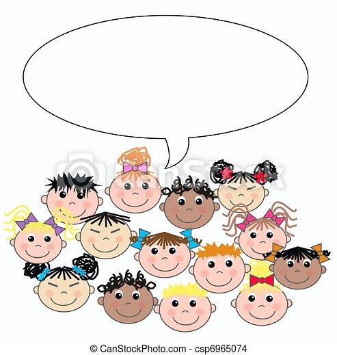 mixed ethnic children - csp6965074
