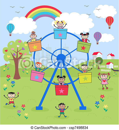 mixed ethnic children - csp7498834
