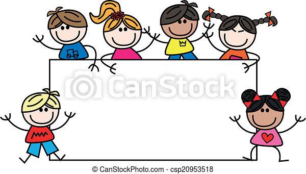 mixed ethnic children - csp20953518