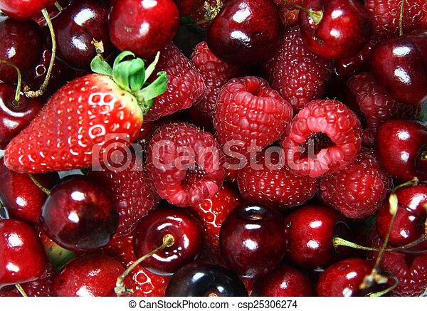 mixed fresh fruit - csp25306274