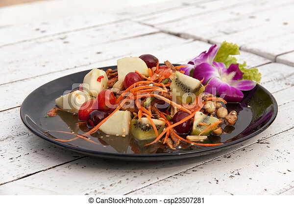 Mixed fruit salad thai style 01 - csp23507281