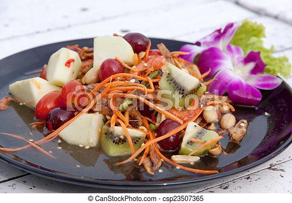 Mixed fruit salad thai style 03 - csp23507365