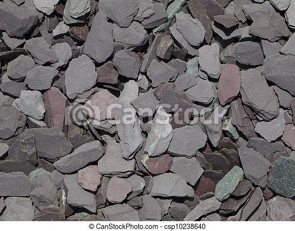 Mixed Garden Slate Chippings   Csp10238640