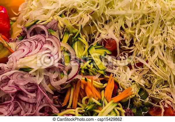 Mixed julien vegetables - csp15429862