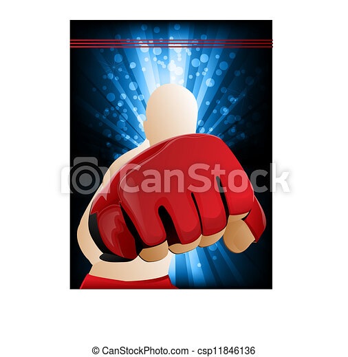 Mixed Martial Arts Illustration - csp11846136