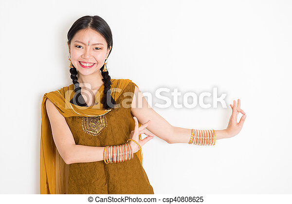 f943eb9b33 Mixed race indian woman dancing. Portrait of young mixed race indian ...